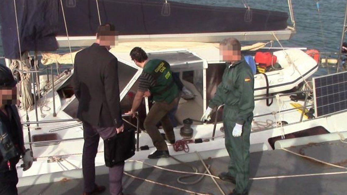 Detuvieron a un argentino en España por llevar 470 kilos de cocaína en un velero