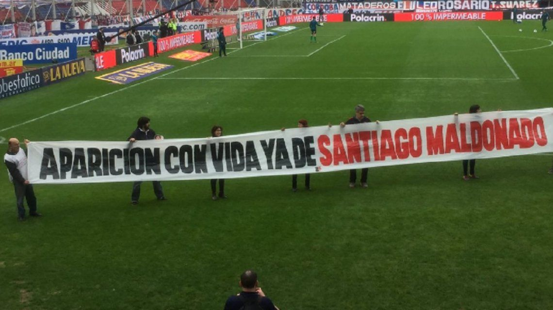 El reclamo de San Lorenzo por Santiago Maldonado