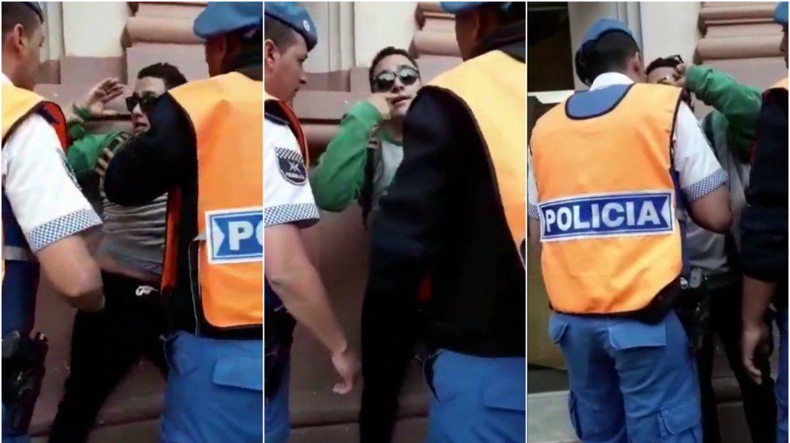 Filmaron cuando aprehendían al joven discapacitado en Luján
