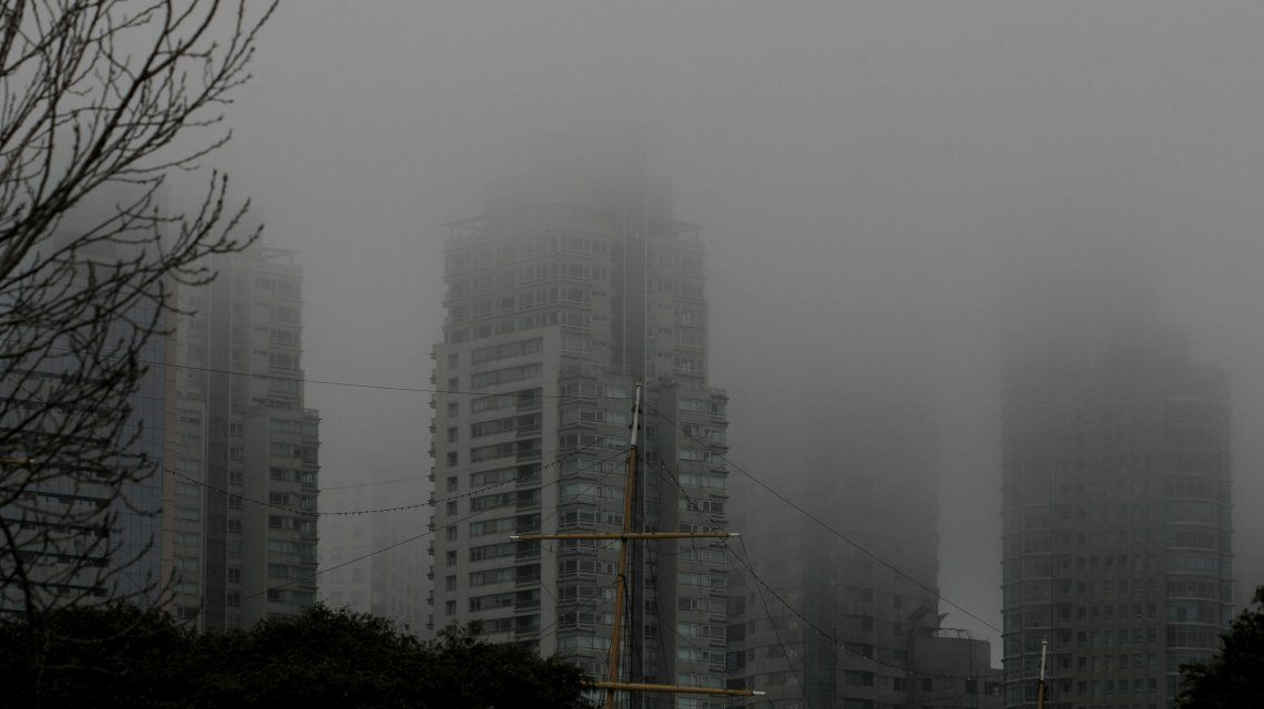 La visibilidad está muy reducida en la Ciudad