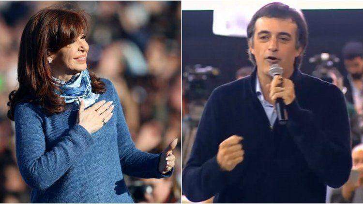 Cristina Kirchner y Esteban Bullrich son los dos candidatos más votados