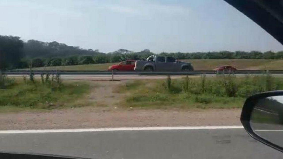 Una camioneta circuló en contramano por la autopista mano a la capital provincial