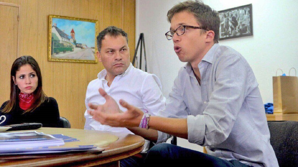 Walter Festa recibió en Moreno a Iñigo Errejón