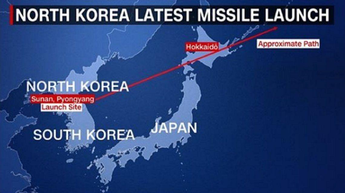Corea del Norte lanzó un nuevo misil y puso en alerta el norte de Japón