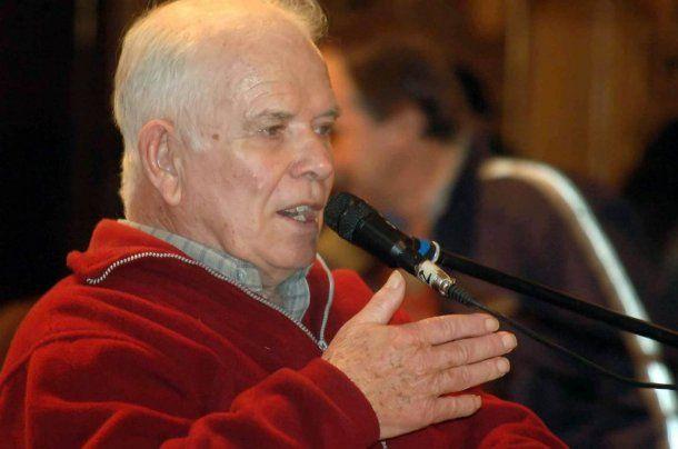 Jorge Julio López cuando declaró como querellante de Etchecolatz<br>
