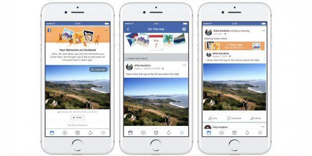 Facebook agrega recuerdos para compartir