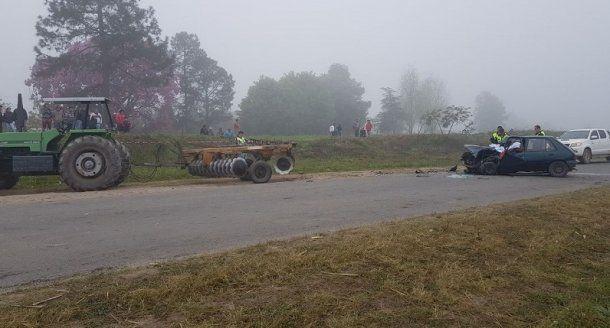 <div>Ocurrió en una curva con pendiente de la ruta 331 a unos cinco kilómetros de Los Sarmientos</div>