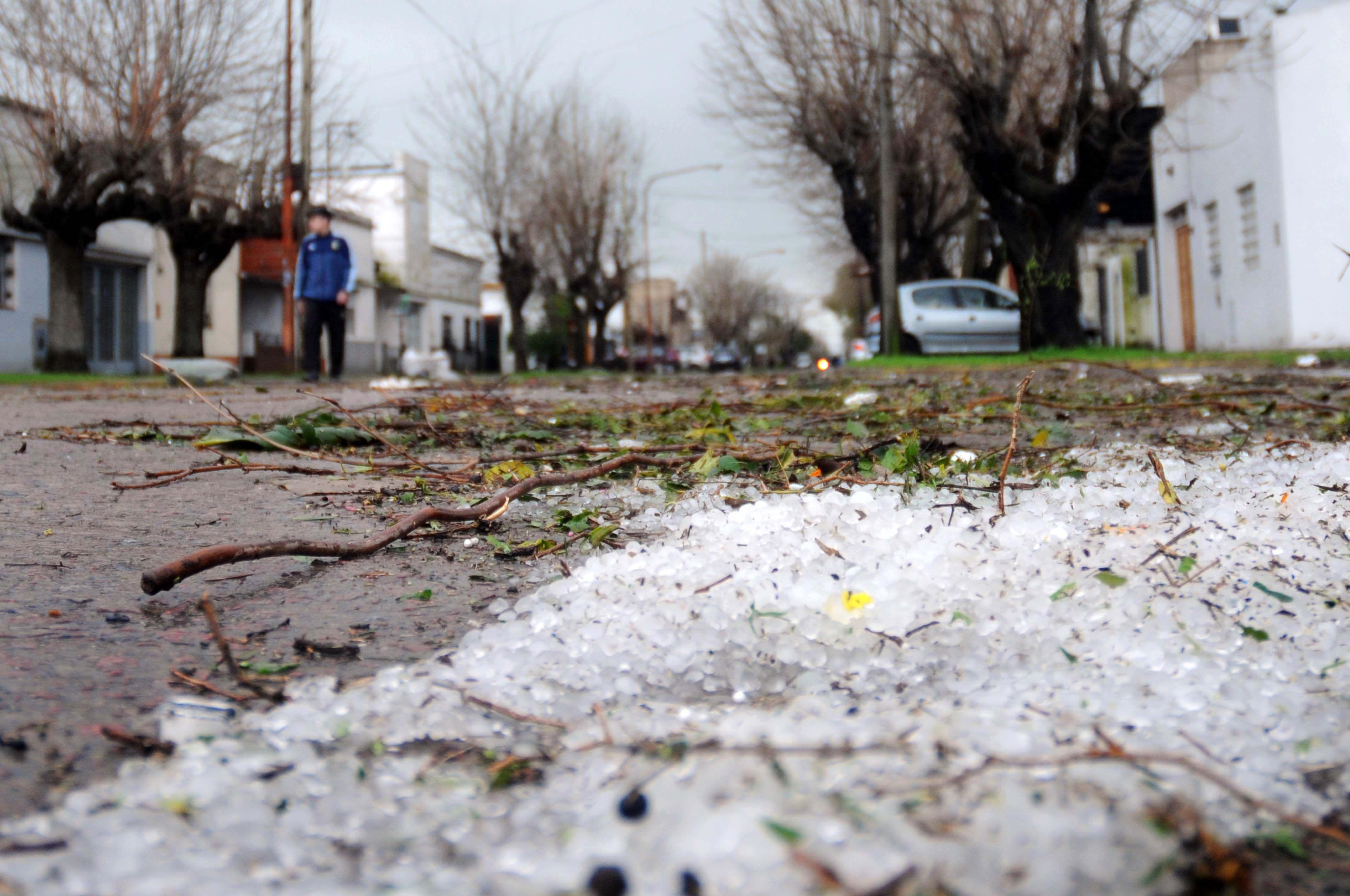 Violento temporal de granizo y viento en La Plata provocó graves destrozos