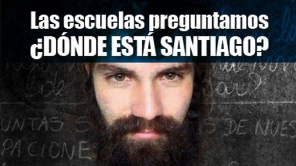Con este banner promocionan la campaña por Santiago Maldonado