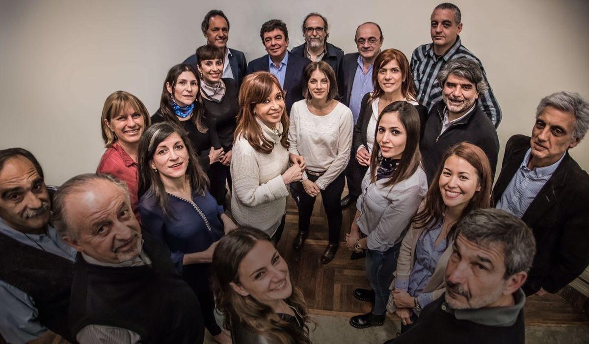 Cristina y los candidatos de Unidad Ciudadana