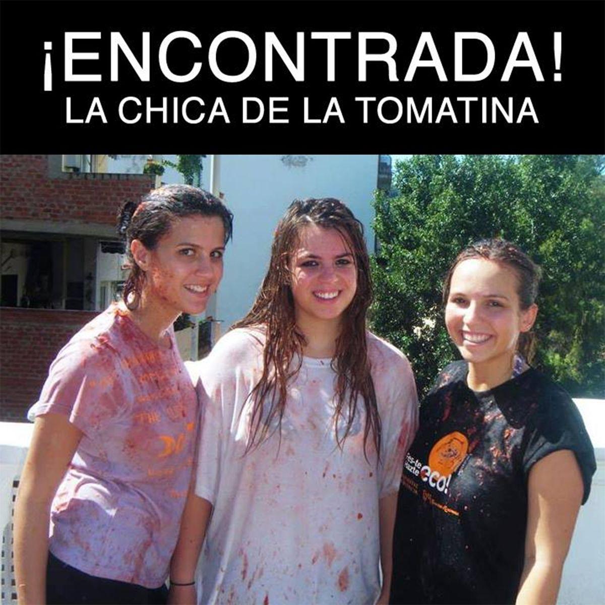 La chica de la Tomatina