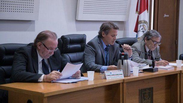Los jueces Ismael Manfrín, Julio Kesuani y Edgardo Fertitta formaron parte del tribunal del caso
