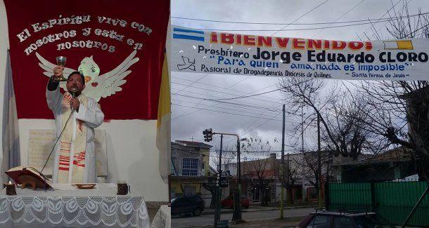 El padre Jorge Cloro, amenazado por narcos de Quilmes<br>