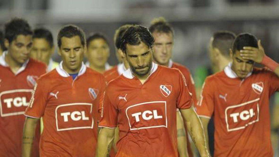 El Tecla Farías durante su fallido paso por Independiente