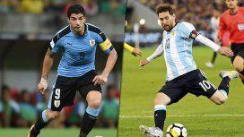 Uruguay vs. Argentina por las Eliminatorias para Rusia 2018: formaciones y horario