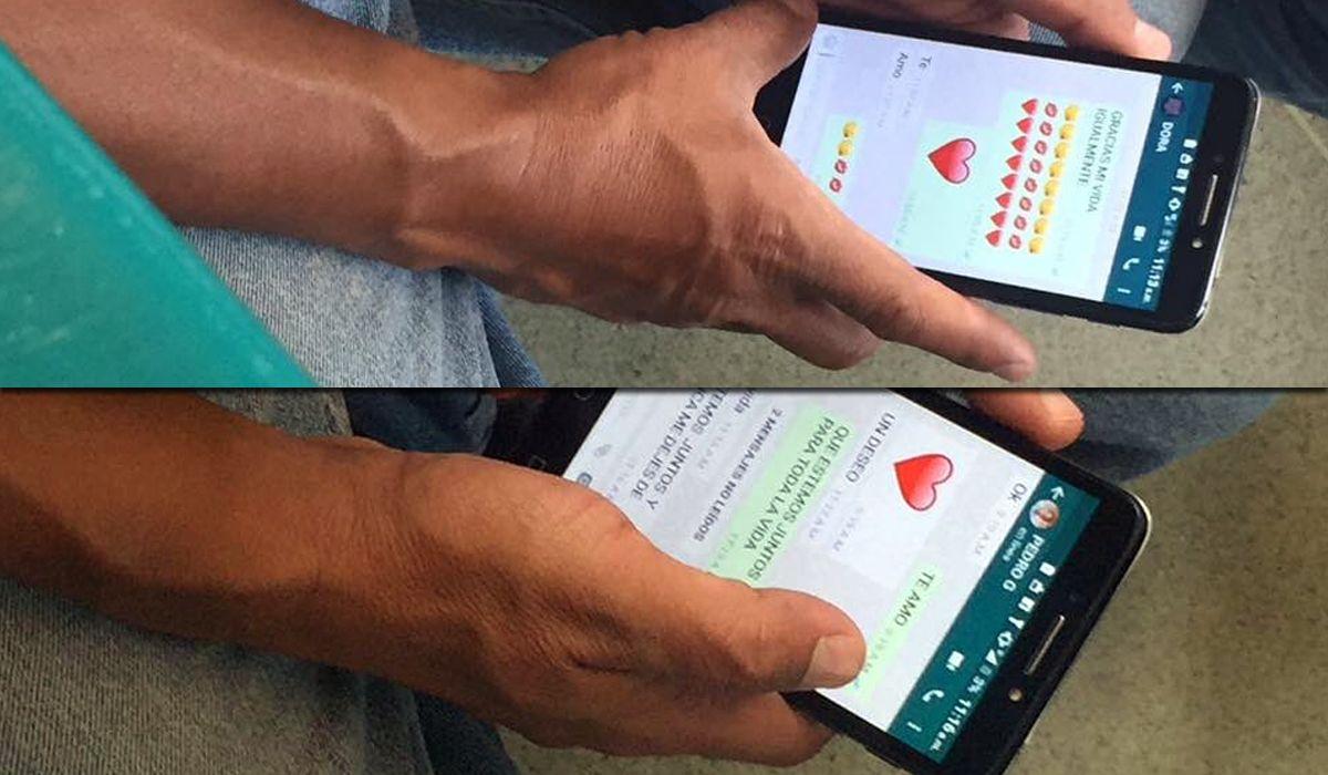 Un engaño en dos fotos de WhatsApp que se viralizó por Twitter