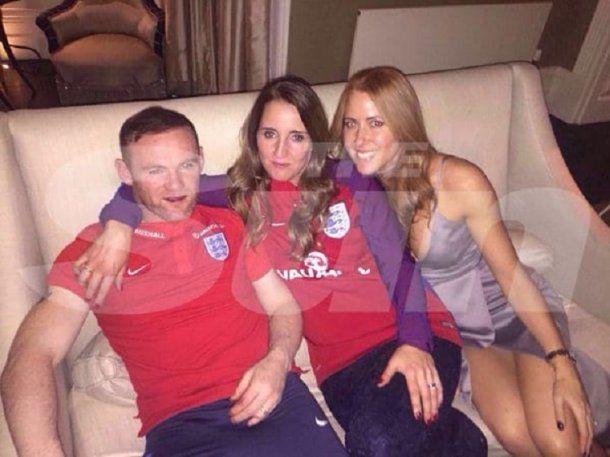 Rooney se había colado a un casamiento<br>