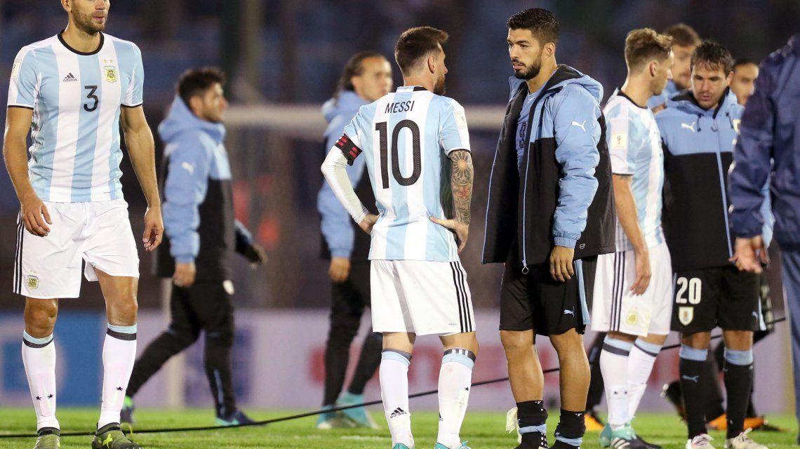 Los amigos Messi y Suárez