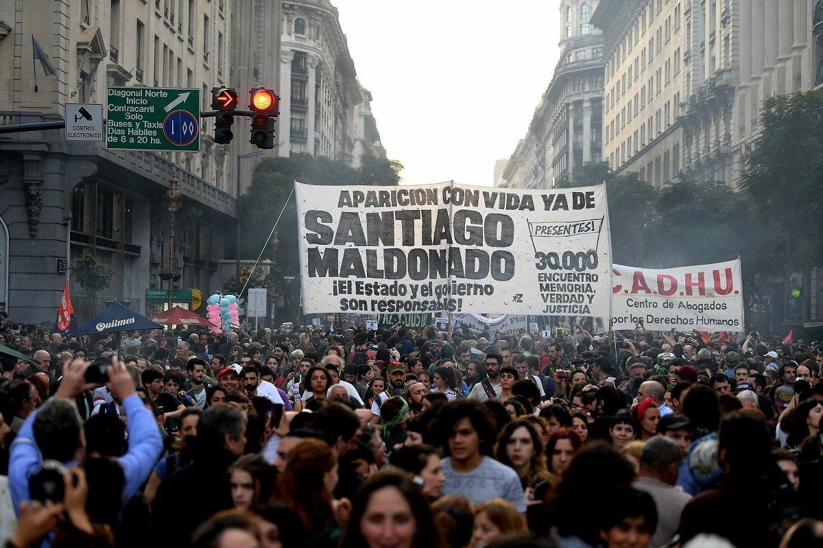 Todo el país marchó por la aparición con vida de Santiago Maldonado