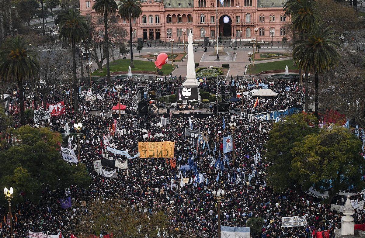Marcha a Plaza de Mayo por Maldonado