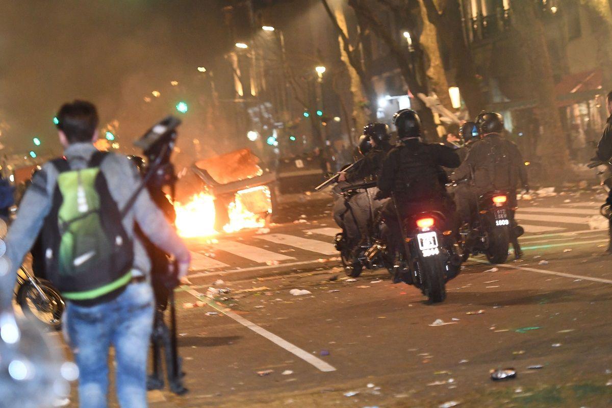 Así fueron los incidentes en Plaza de Mayo tras la marcha por Santiago Maldonado