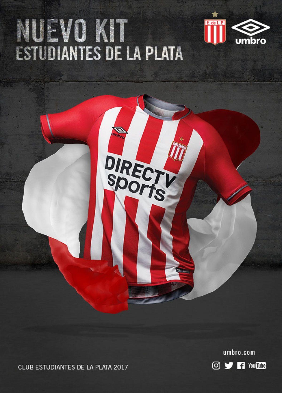 Umbro presenta el nuevo kit oficial de Estudiantes de la Plata