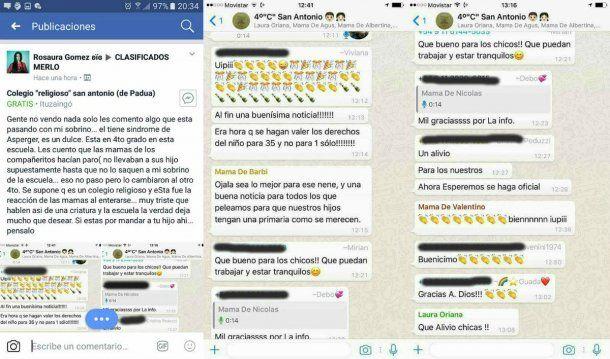 Las capturas fueron compartidas en Facebook y se volvieron virales