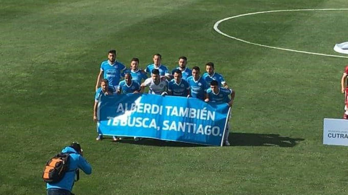 Alberdi también te busca: el reclamo de Belgrano por Santiago Maldonado