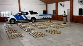 Decomisaron 348 kilos de marihuana en Corrientes