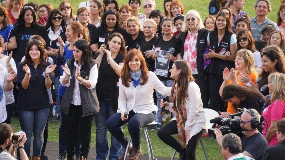 Cristina criticó la represión tras la marcha por Maldonado - Crédito: Facebook Cristina Fernández