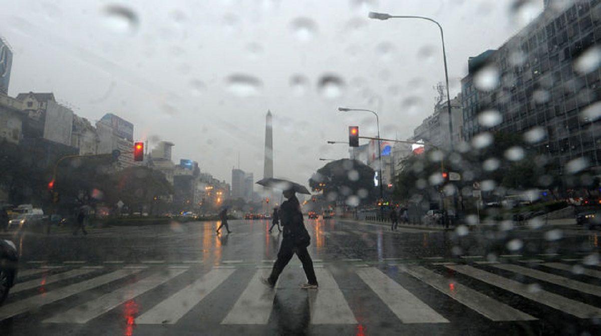 Las lluvias continuarán hasta el miércoles en la Ciudad y Gran Buenos Aires