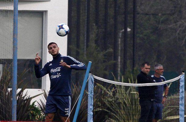 Icardi en el entrenamiento de la Selección - Crédito:@Argentina