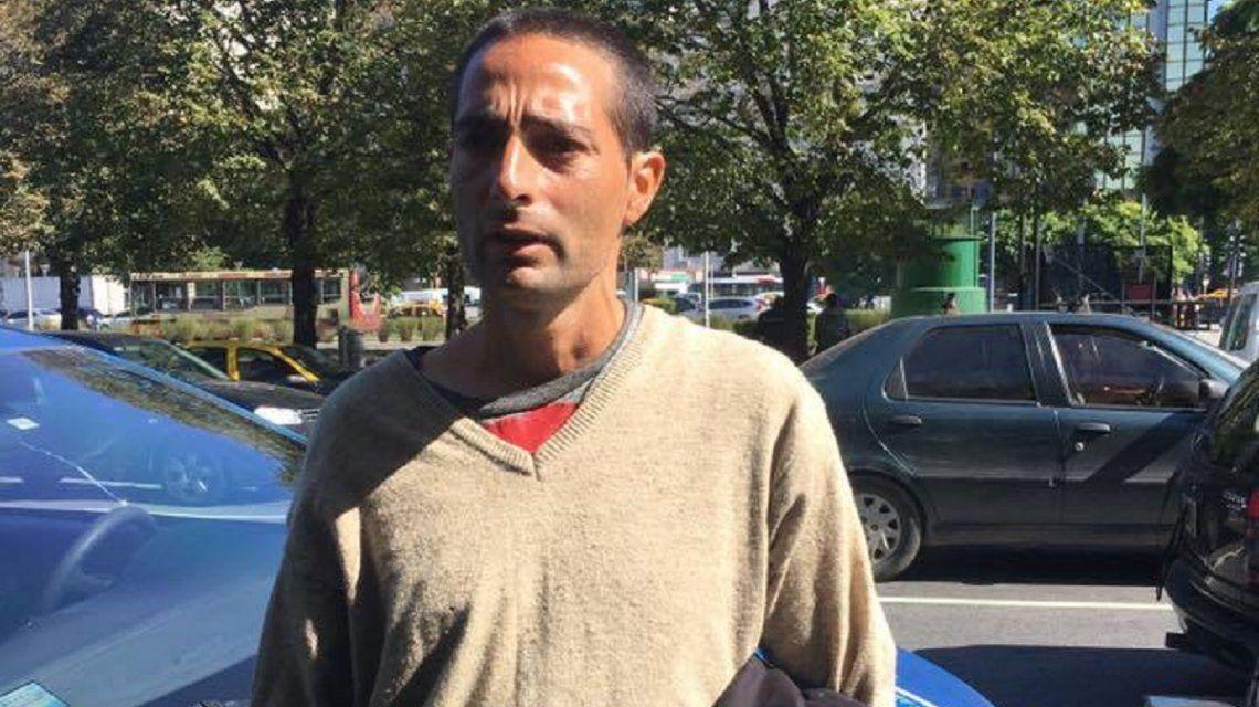 Marcelo Sergio Villalba cuando era detenido