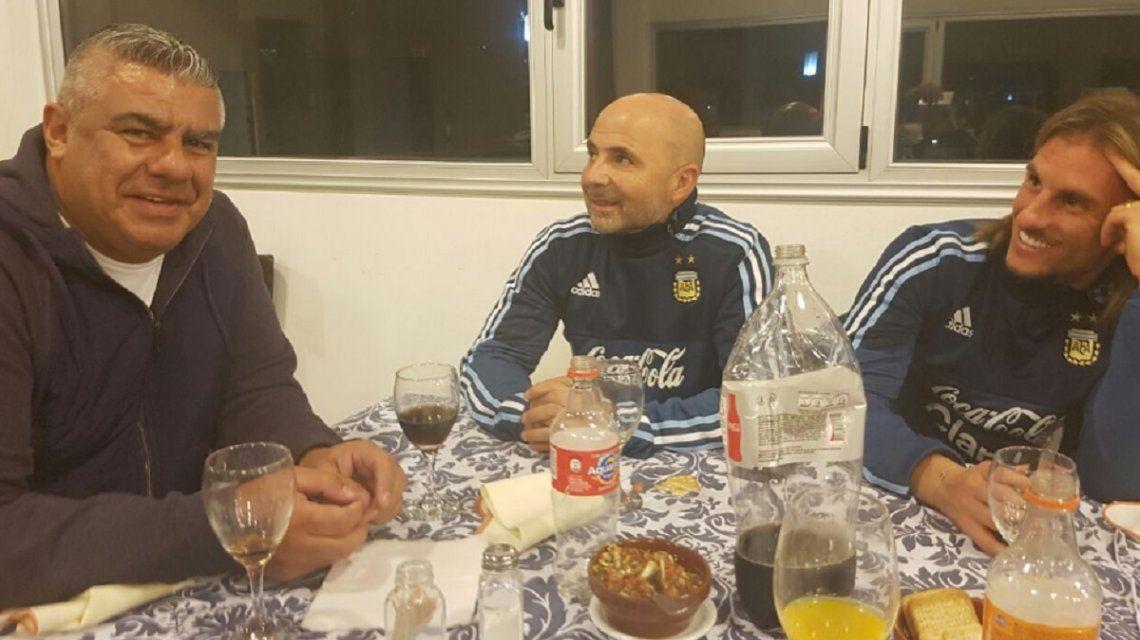 El presidente de AFA y el DT de la Selección