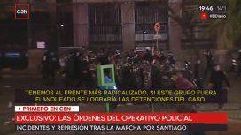 Hay que lograr detenciones: la orden del operativo policial en la represión