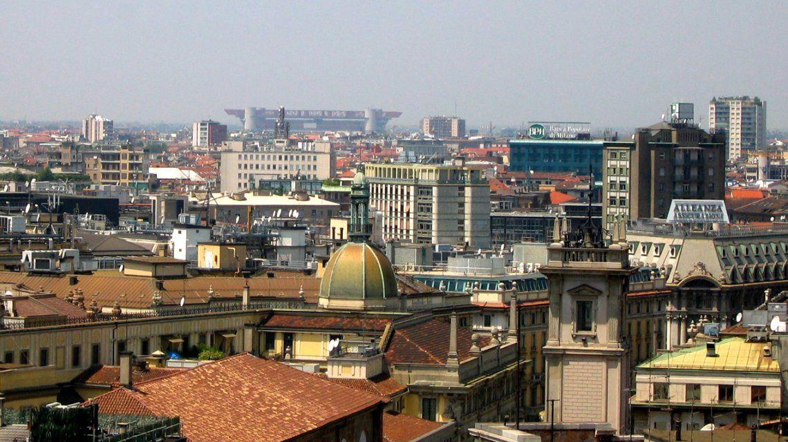Vista panorámica de Milán