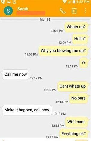 Intercambio de mensajes entre el papá y la niñera