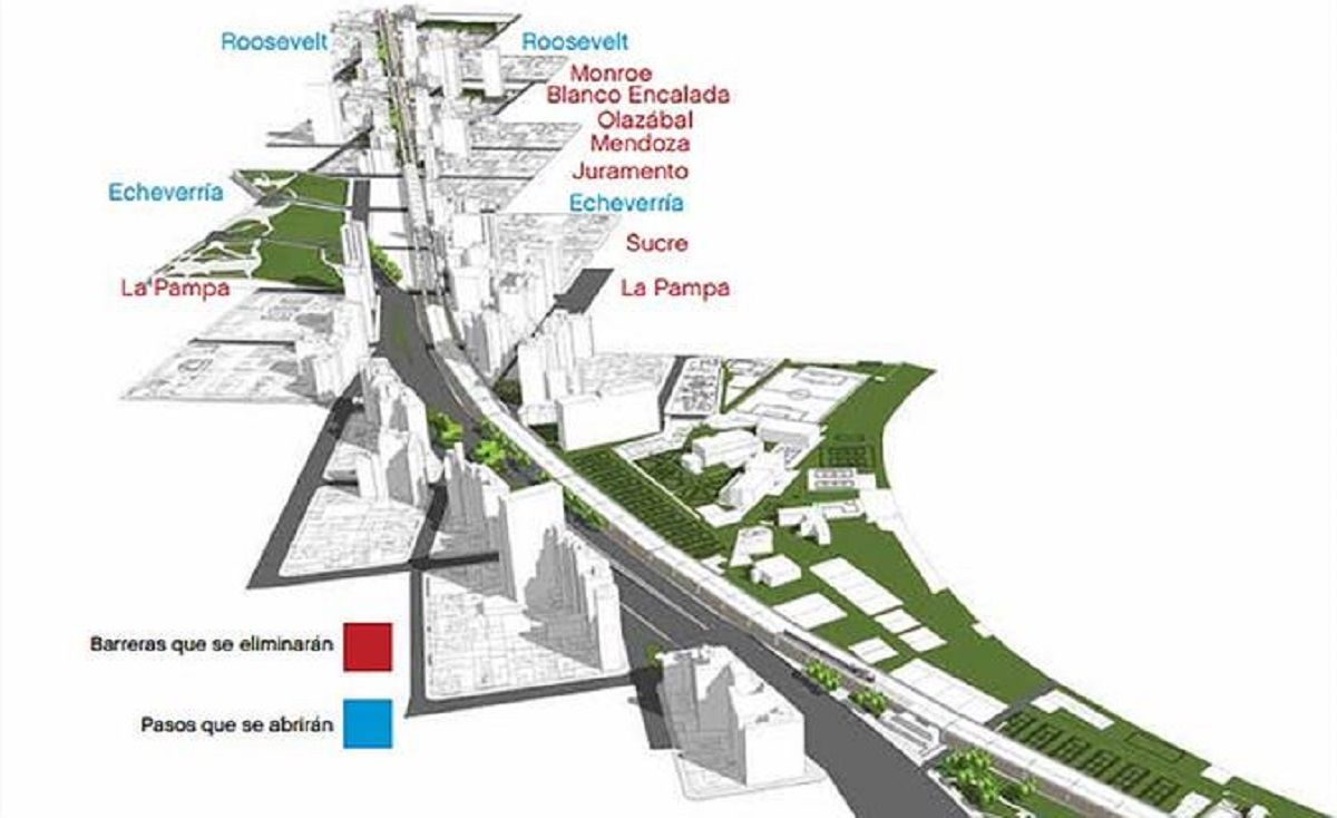 El viaducto que eliminará barreras en Belgrano