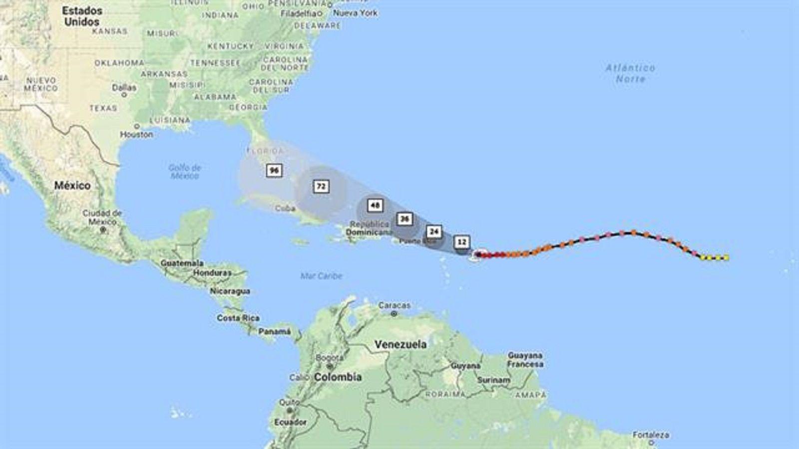 El huracán Irma alcanza su máxima potencia y amenaza al sur de EE.UU.