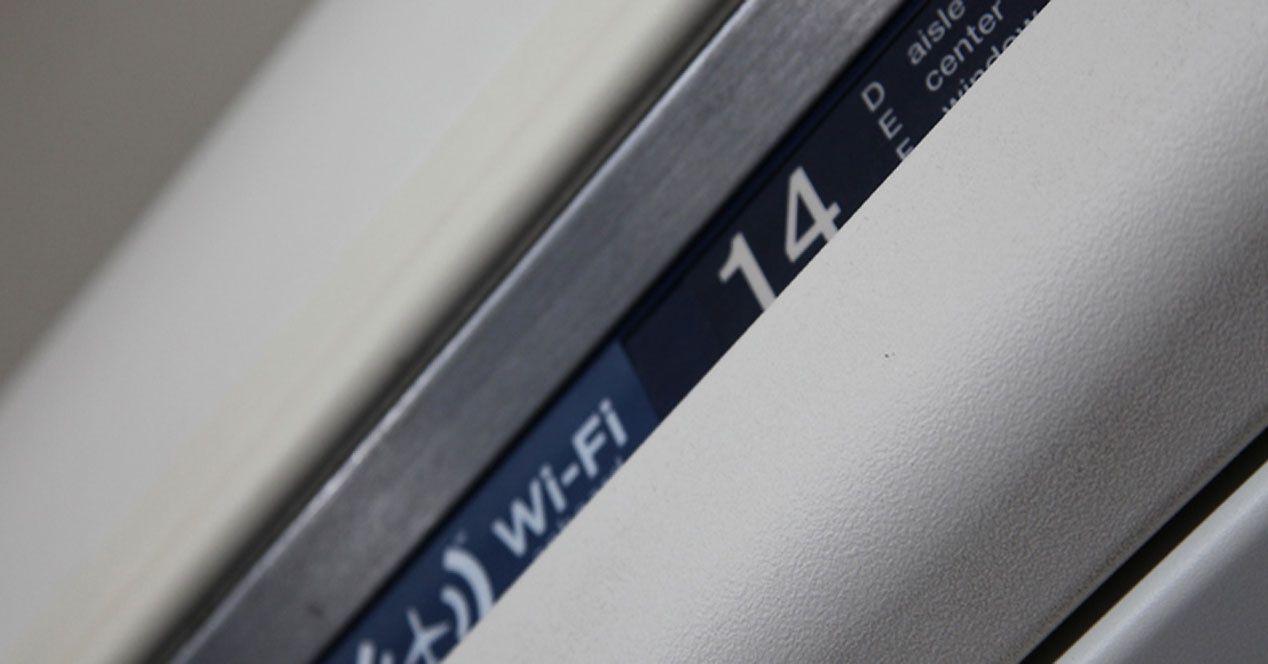 Así se anuncia en los aviones cuando hay WIFI