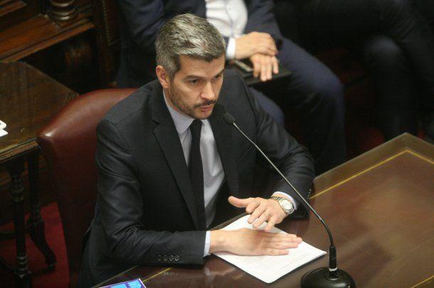 Marcos Peña en el Senado de la Nación<br>