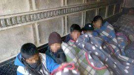 Escándalo: trasladaron en un camión frigorífico a los alumnos