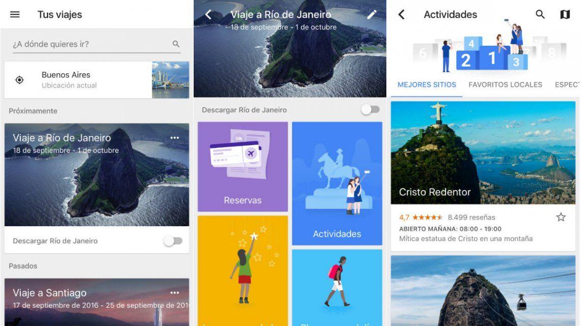 Google Trips en español