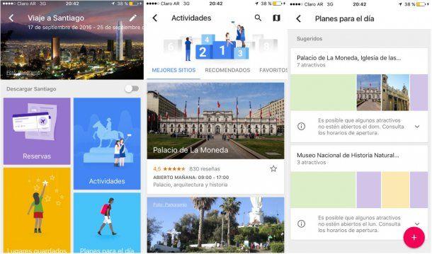 Google Trips en español<br>