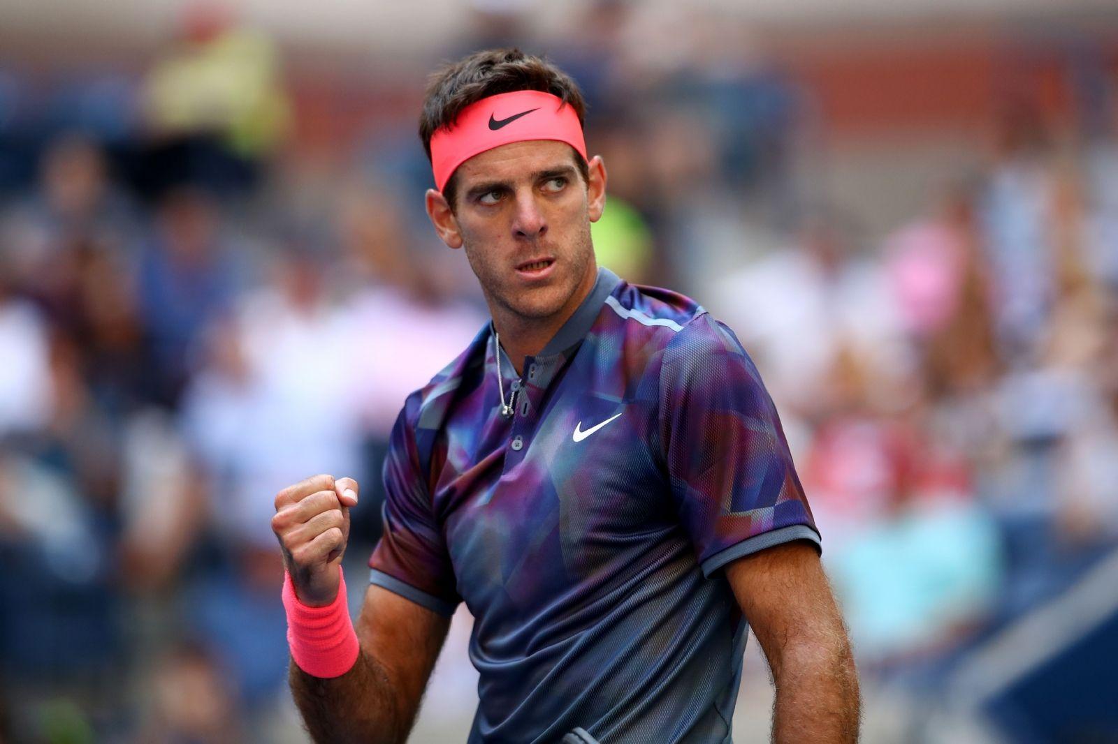 Con el ojo de tigre estuvo Del Potro ante Federer