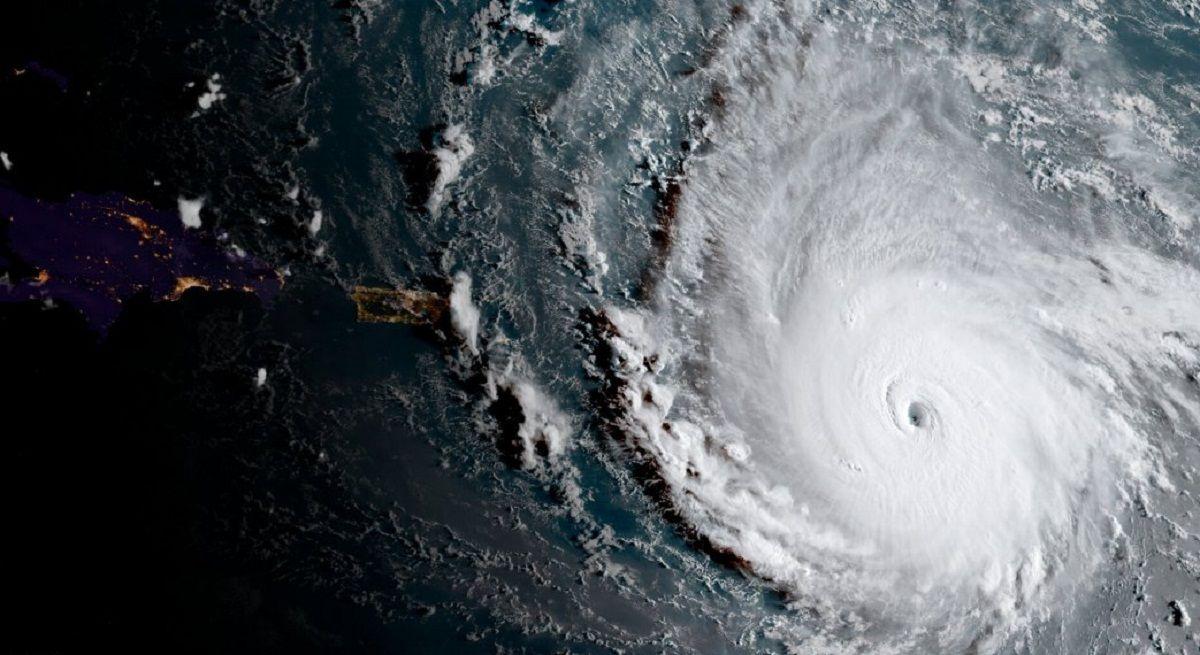 Imagen satelital del huracán Irma