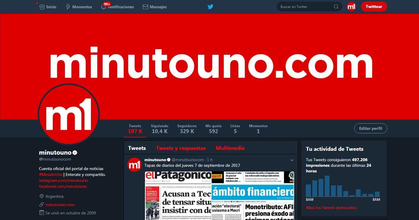 El modo nocturno de Twitter llega a la web