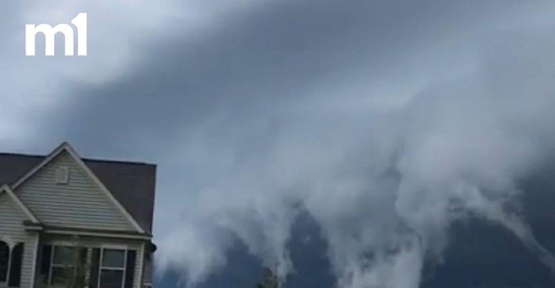 Mirá las extrañas nubes que aparecieron en el cielo de Georgia