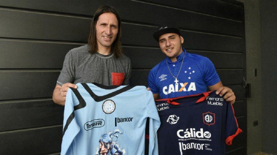 Juan Carlos Olave y su hijo Thiago