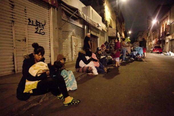 Personas evacuadas por el sismo en México<br>